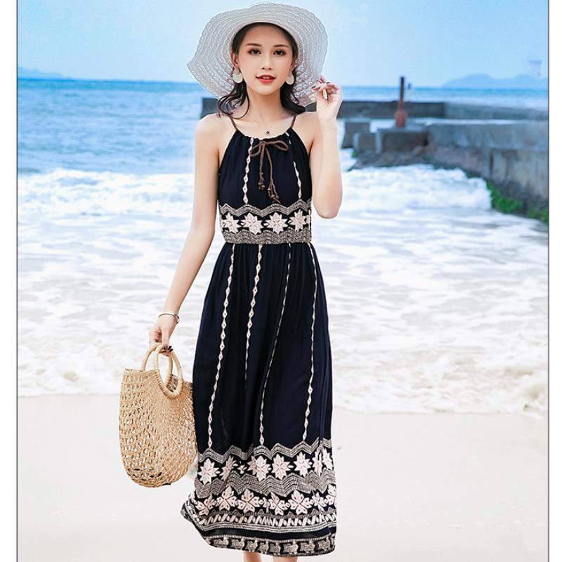 Vestido de estampado floral de verano sexy para mujer sin mangas sin - Ropa de mujer - foto 2