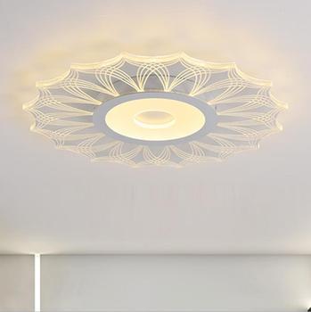 Ultra-บางเพดานโคมไฟห้องนั่งเล่นแฟชั่นโมเดิร์นรอบ Nordic led โคมไฟเพดานห้องนอน