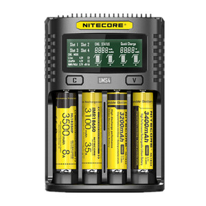Image 2 - Ograniczone w czasie sprzedaży oryginalny NITECORE UMS4 3A inteligentne szybsze ładowanie doskonała ładowarka z 4 gniazdami wyjście kompatybilny AA baterii