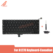 Full New A1278 Canadian Laptop keyboard For Macbook Pro 13 A1278 Canadian keyboard 2009 2010 2011 2012 year new for macbook pro 13 a1278 topcase palm rest keyboard backlit us uk euro eu german french danish russian spanish 2011 2012