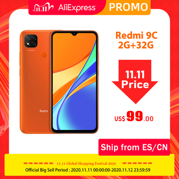 "Global Version Redmi 9C 2GB 32GB Octa-core CPU Smart phone 13MP AI Triple Camera 6.53"" Large Display 5000mAh Battery"