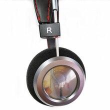 40mm baixo pesado aberto para trás fone de ouvido 32 ohm de alta fidelidade sobre a orelha fone gama completa metal habitação fones