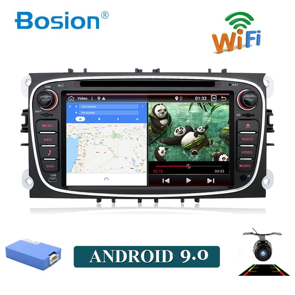 Octa core android 9.0 dvd de voiture pour Ford Mondeo focus s-max smax Kuga c-max gps intelligent radio vidéo wifi BT lecteur multimédia