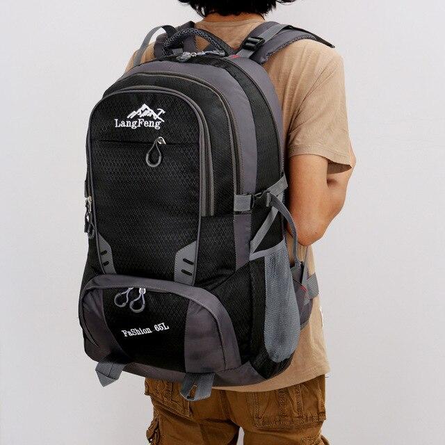 65L imperméable à leau Sport randonnée sac à dos pour hommes femmes mâle en plein air escalade sac unisexe Camping Trekking voyage Pack Sport sac à dos