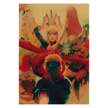 Naruto Anime Character Kraft Paper Poster Wall Sticker Room Picture Painting Home Decoration Painting anime naruto kraft paper poster home wall sticker decoration painting room restaurant picture art painting painting