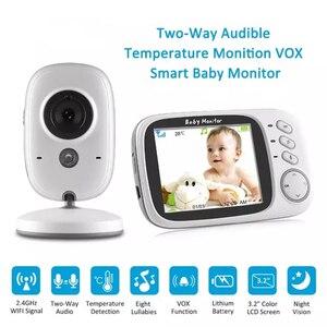 Image 1 - ワイヤレスビデオカラーベビーモニターと 3.2 インチ液晶 2 ウェイオーディオトークナイトビジョン監視セキュリティカメラベビーシッター VB603