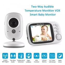 Monitor inalámbrico de vídeo de Color para bebé con LCD de 3,2 pulgadas de 2 vías de Audio de visión nocturna de vigilancia de la cámara de seguridad de la niñera VB603
