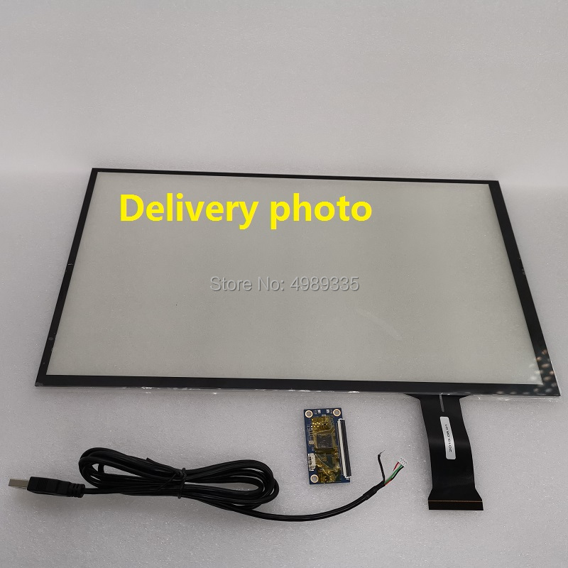 15.6-inch Capacitive Touch Screen 360X207mm Tempered Glass G + G Structure USB Plug And Play Drive-free 10-point Touch