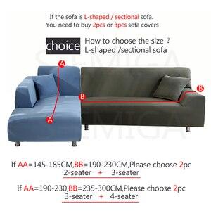 Image 3 - Fundas de sofá de color sólido para sala de estar, cubiertas elásticas de material elástico, funda completa para sofá, asiento doble, tres asientos