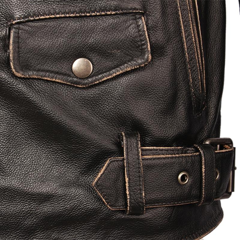 Vintage Motorcycle Jacket Men Leather Jackets Thick 100 Cowhide Genuine Leather Coat Winter Biker Jacket Moto Vintage Motorcycle Jacket Men Leather Jackets Thick 100% Cowhide Genuine Leather Coat Winter Biker Jacket Moto Clothing M456