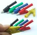 DHL/EMS 100 шт 5 цветов медь HV тест крокодил для 4 мм банановый мультиметр probes-A7