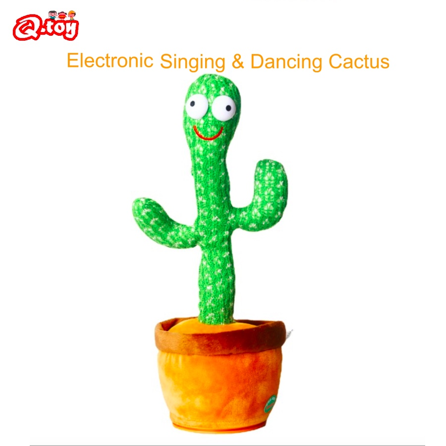 Parrot Cactus Singing Dancing fun toys cactus que baila Electronic toys decoration Gift for Kids Knitted Fabric Plush Montessori