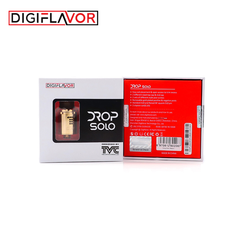 Digiaroma Drop Solo RDA Vape réservoir simple bobine 22mm goutte RDA cigarette électronique atomiseur Standard 510/soulevé 510 broches BF Squonk - 6