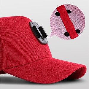Image 3 - قماش قبعات بيسبول قبعة ل Gopro بطل 7 6 5 الأسود Dji Osmo J هوك مشبك جبل ل شاومي يي الذهاب برو 7 8 Sjcam Eken اكسسوارات