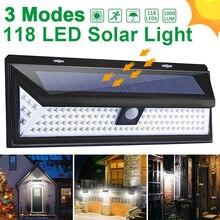 Goodland 118 светодиодный светильник на солнечной батарее, уличный светильник на солнечной батарее, солнечный светильник с датчиком движения PIR, водонепроницаемый уличный светильник для украшения сада