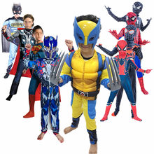 4-12Y Child Game Cosplay Costume Kid Superhero Spider Tights/toy Gloves Carnival Halloween Mask Boy Girl Gift