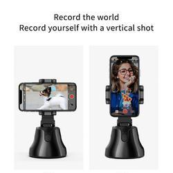 Авто Смарт-съемка селфи палка 360 ° AI объект отслеживания Держатель все-в-одном вращения лица слежения камеры телефона держатель