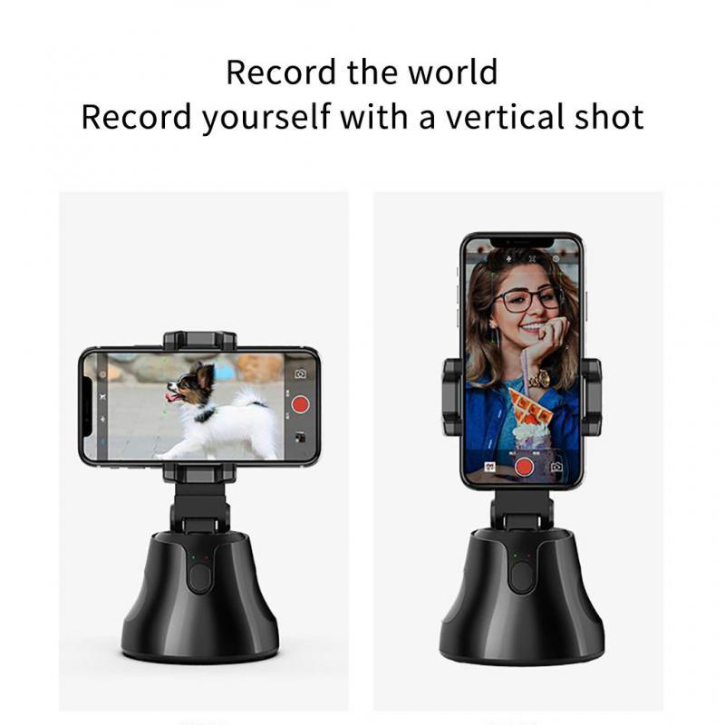 Auto Smart Shooting Selfie Stick 360° AI Object Tracking Holder All-in-one Rotation Face Tracking Camera Phone Holder