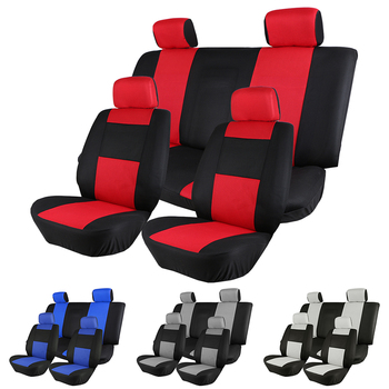 1-set Car Seat Cover Sandwich Mesh Breathable Material Four Seasons Universal Five-seater Auto Seat Covers Pad for Most Cars