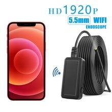 Эндоскоп для iphone, IOS и Android, эндоскоп, wi-fi, мини-камера, Водонепроницаемый эндоскоп для осмотра автомобиля, камера 1920p HD эндоскоп