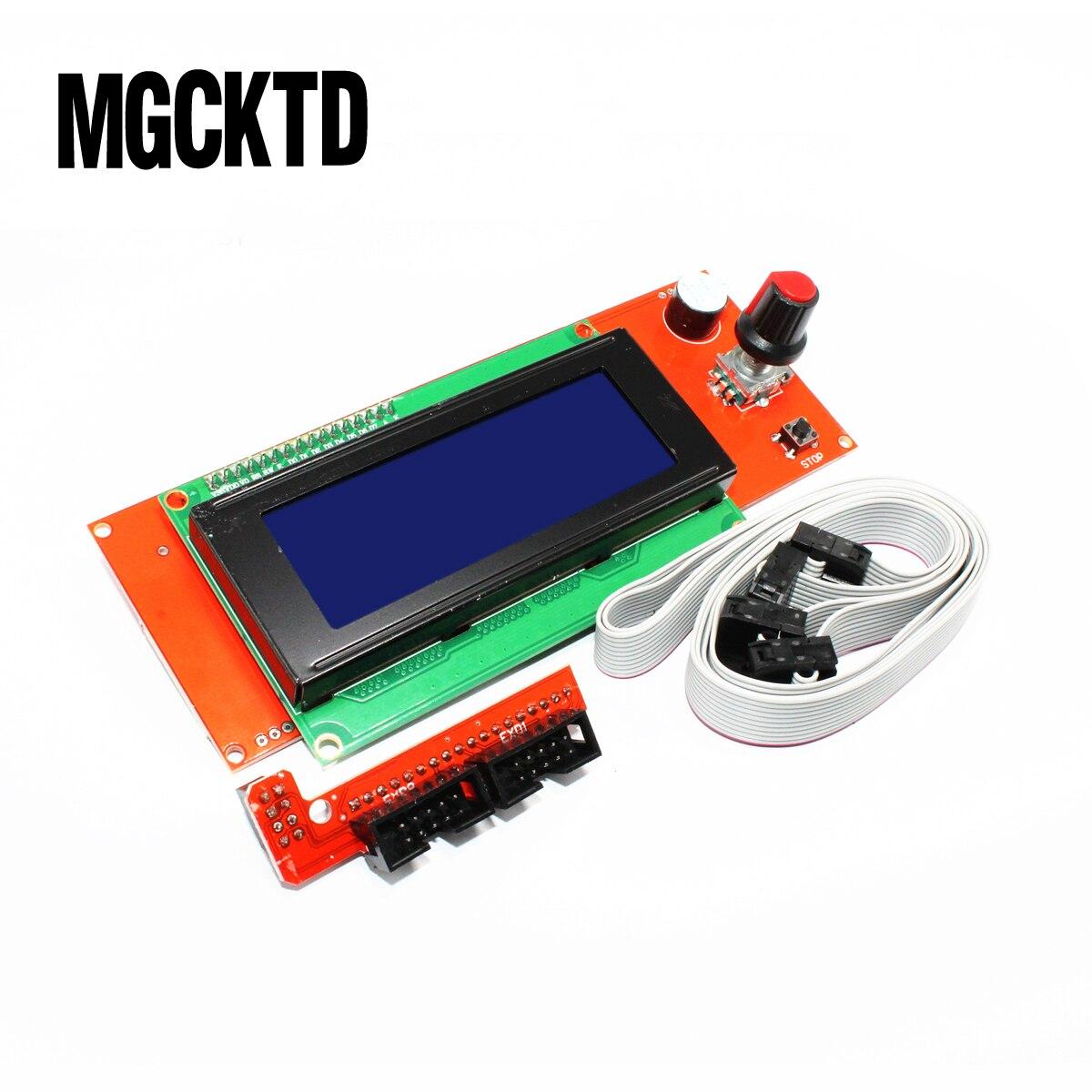 Novos produtos 2004 LCD Módulo de Controle para Impressora Reprap Controlador Smart Rampas 1.4 FZ590 3D Dropshipping