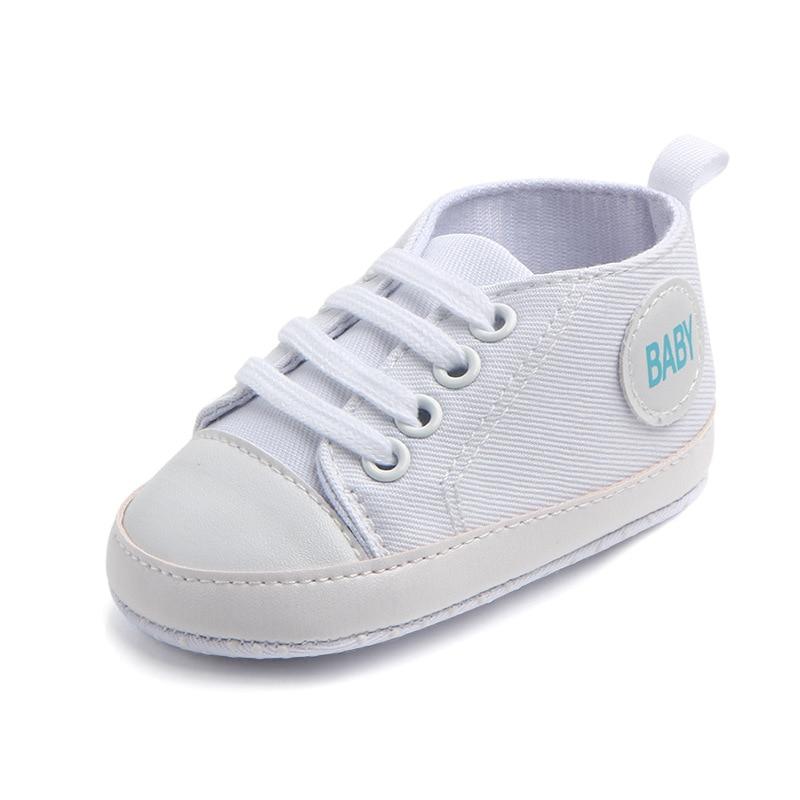Chaussures bébé Garçon Fille Solide Sneaker Coton Doux Semelle Antidérapante Nouveau-Né Infantile Premiers Marcheurs Bambin décontracté Sport Chaussures de Berceau 43