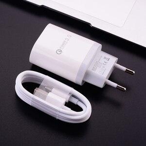 18W 3A устройство для быстрой зарядки с usb-портом адаптер Type C кабель провод Micro USB для Samsung Galaxy S20 FE S8 Примечание 20 8 A40 A51 Google Pixel 5 4a 5G
