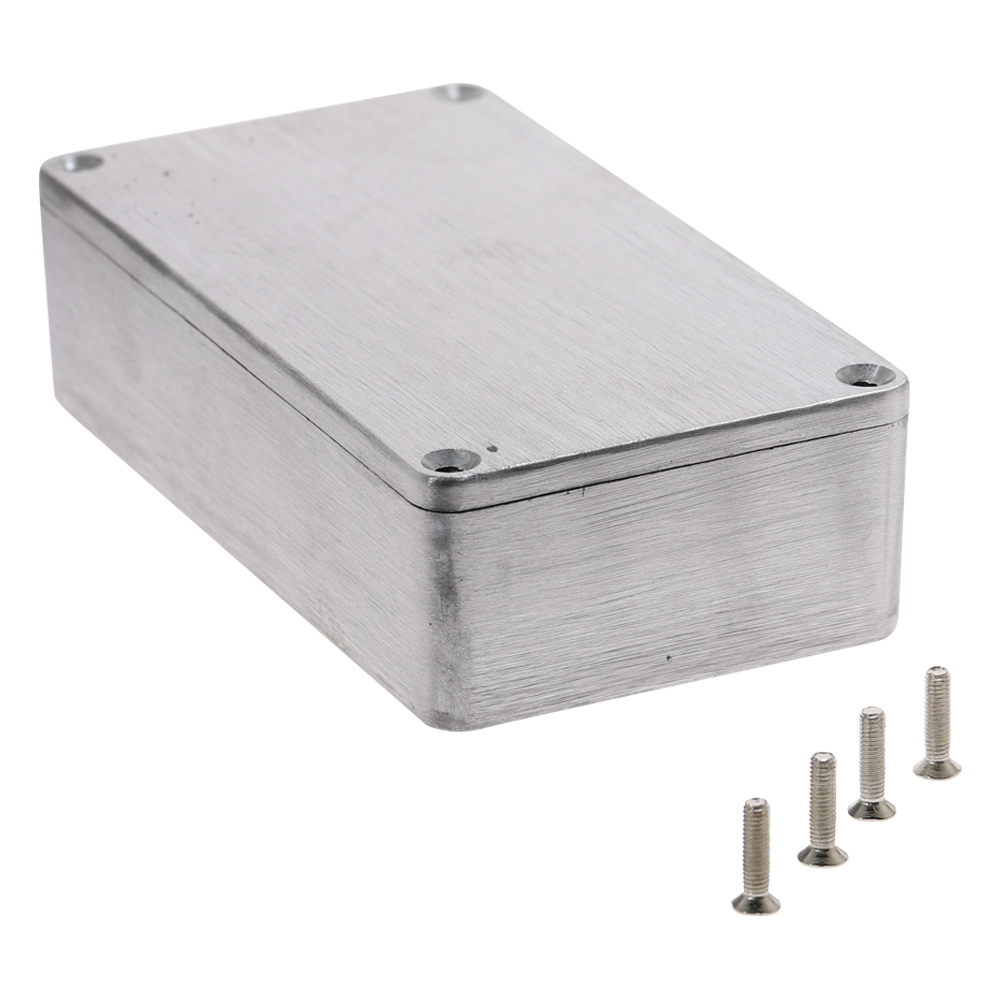 Aluminium Enclosure Electronic Diecast Stompbox Project Box Silver 1590B 112.2x59.6x31mm Project Instrument Case
