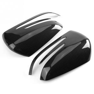 Image 4 - 2pcs Carbon Fiber Side Rearview Mirror Cap Cover Trim for Mercedes Benz A B C E GLA Class W204 W212 ABS Plastic Car Accessories