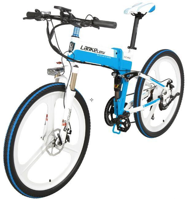 2020 China  LANKELEISI  26 inch bike electric mountain 27 Speeds Hydraulic Suspension Fork 250W 48V 10Ah Lithium Baterry 1