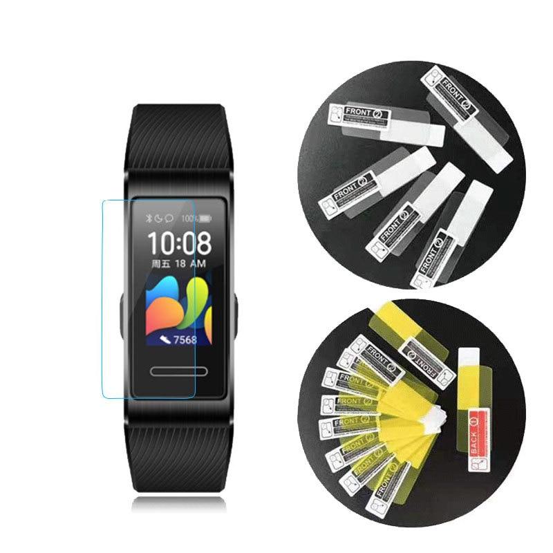 3PCS For Huawei Band 4 3 3e 4e Pro B5 Smart Wristband Anti-shock Soft TPU HD Clear Protective Film Full Screen Protector Cover