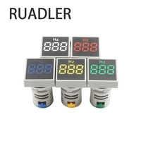 Square 22mm Measuring Range 0-100 Hz Digital Display Electricity Hertz meter Frequency Meter Indicator Signal Light Combo Tester