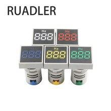 Medidor de frequência do medidor de hertz da eletricidade da indicação digital da faixa de medição 20-75 hz do quadrado 22mm