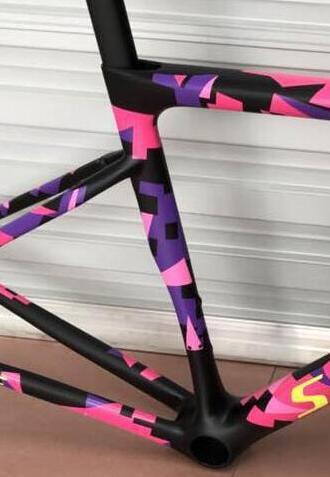 2019 Style Road Bike Frameset T1100 Supper Quality Cycling Carbon Frame V Breaks Bsa/pf30/bb30 Sl6 Frameset In Bike In Stock