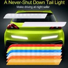 Bandes autocollantes réfléchissantes pour voiture, 2 pièces, bandes réfléchissantes pour véhicule, avertissement de sécurité, accessoires de voiture