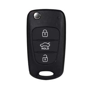Image 5 - Car Replace Flip Key Shell Blade Cover 3 Buttons Folding Fit For KIA Rondo For Sportage Soul Rio Remote Case Black Car String