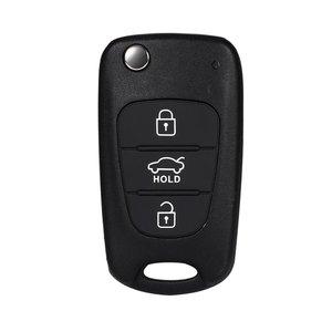 Image 5 - רכב להחליף Flip מפתח מעטפת להב כיסוי 3 לחצנים מתקפלים Fit לקאיה רונדו עבור Sportage נשמת ריו מרחוק מקרה שחור רכב מחרוזת