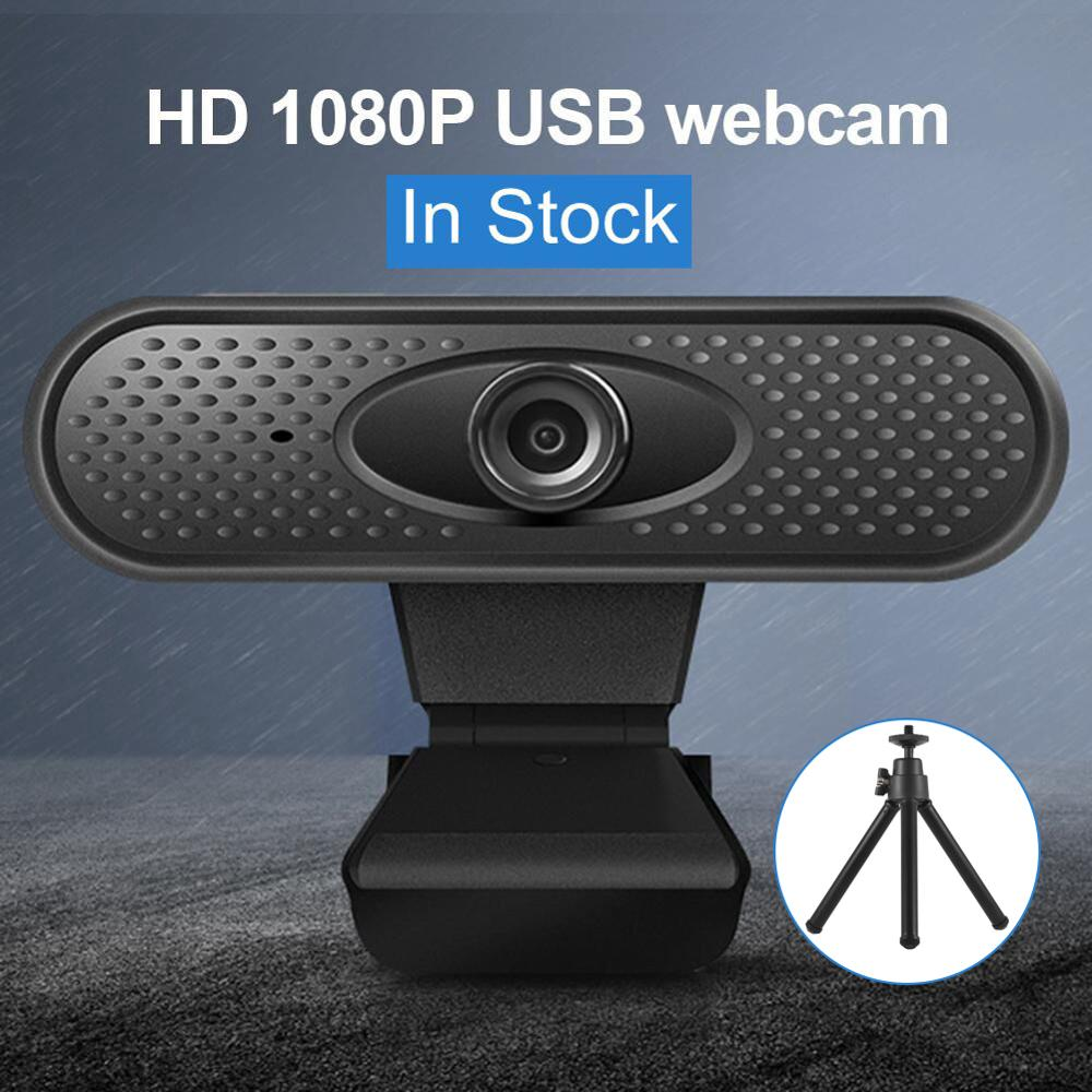 Webcam 1080p Pc High Computer Cameras Stand HD Microphone Digital Video Webcamera Webcam Full Hd Mic веб камера с микрофоном