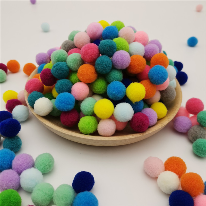 8mm 10mm/15mm/20mm/25mm/30mm DIY Soft Pom Poms Balls Fluffy Plush PomPoms Furball Handmade Kids Toys Wedding Christmas Decor 10g