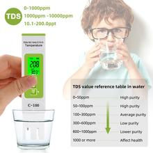 Portable Pen TDS Tester Digital Water Meter Filter Purity Filter Temperature Meter Tester for Aquarium Pool Measurement Tool 1pcs tds meter filter pen new lcd digital temp ppm tester stick water purity calibrate by hold temp botton 21% off