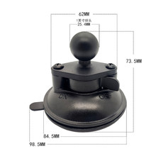 Diameter 80mm Base Car Window Twist Lock Suction Cup to 1 inch Ball Mount for Gopro Camera Smartphone