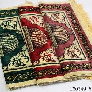 Image 3 - Sztuczny kaszmir muzułmański mata 70x110cm arabski islamski dywanik modlitewny wysokiej klasy ceremonia koc kult dywan Dropshipping dywan
