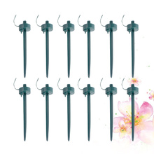 12PCS Automatic Drip Irrigation Watering System Indoor Plants Houseplant Waterer Flower Pot Tool (Green)