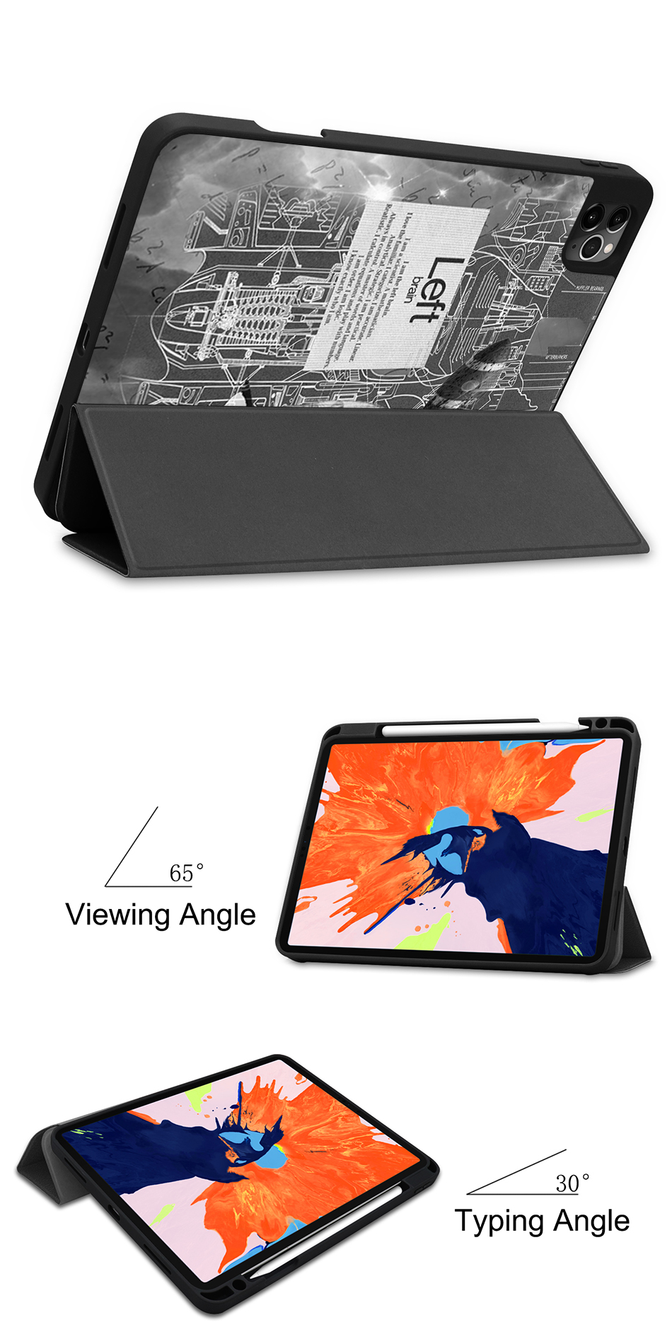 Pro iPad 4th Soft A2229 Case 2020 Back PU Gen For TPU MTT Leather 12.9 Release A2233