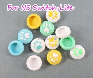 Image 1 - 4 pezzi per nintendo Switch Lite NS Joy Con Controller Gamepad custodia a levetta simpatico gatto zampa artiglio pollice Stick Grip Cap Joystick Cover