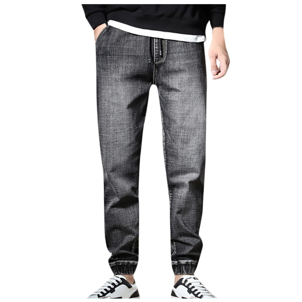 SAGACE Men's Classic Solid Color Large Size Casual Straight Denim Trousers Comfortable Casual Fashion Wild Autumn And Winter
