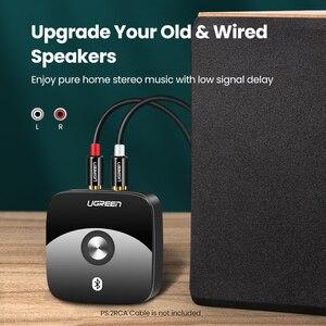 Image 3 - Ugreen bluetooth rca receptor 5.0 aptx ll 3.5mm jack aux adaptador sem fio música para tv carro rca bluetooth 5.0 3.5 receptor de áudio