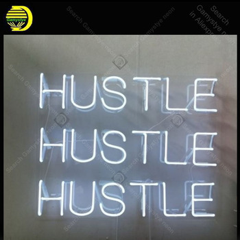 Neon Sign for Hustle Hustle Home Display Decoracion Express ship Beer Neon Light up wall sign Neon Signs for bedRoom Letrero фото