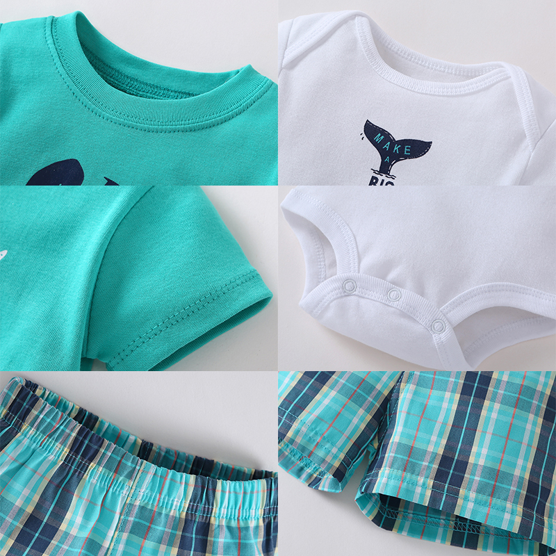 3 pcs suit Newborn Baby Romper Summer Set 10