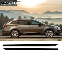 X Perience Sport Streifen Für Seat Leon 5 türen Auto Tür Seite Rock Aufkleber Auto Körper Decor Vinyl Aufkleber Carbon faser Zubehör